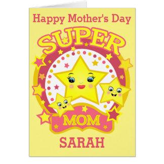 Cartão super feito sob encomenda do dia das mães