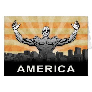 Cartão Super-herói americano