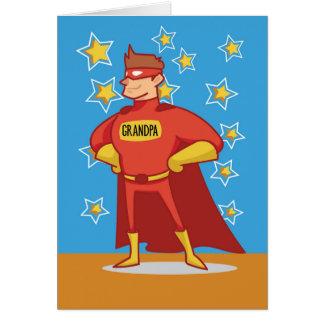 Cartão Super-herói do vovô, dia das avós