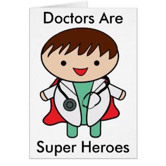 Cartão Super-herói dos doutores Ser
