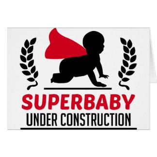 Cartão superbaby sob a construção