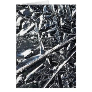 Cartão Superfície de cristais puros do silicone