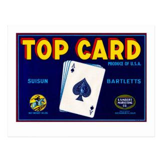 Cartão superior