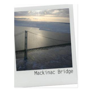 Cartão superior de Michigan da península da ponte