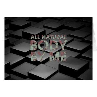 Cartão SUPERIOR todo o corpo natural