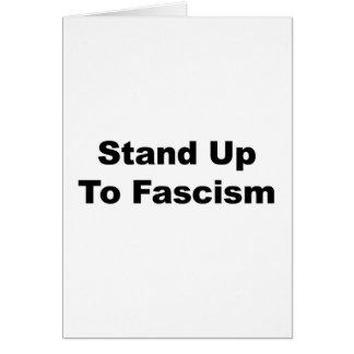 Cartão Suporte até o fascismo