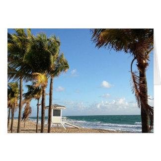 Cartão Suporte do Lifeguard de Fort Lauderdale