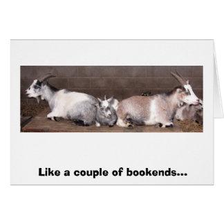 Cartão Suportes para livros da cabra