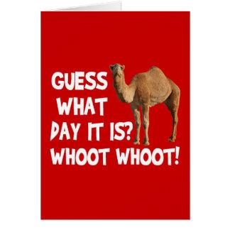 Cartão Suposição do camelo do dia de corcunda que dia é