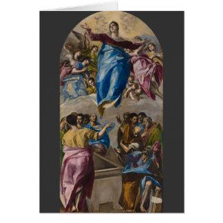 Cartão Suposição do Virgin por El Greco