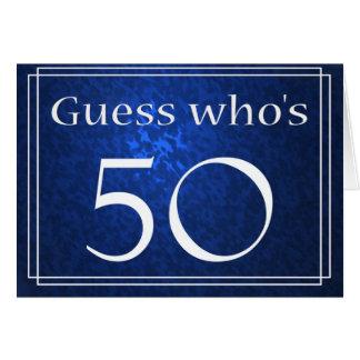 Cartão Suposição quem é 50?