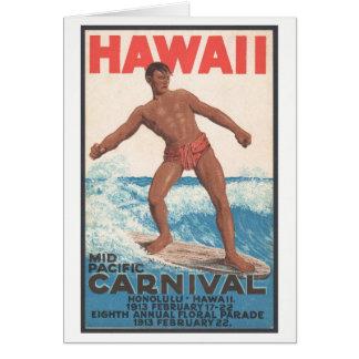 Cartão Surfista de Havaí