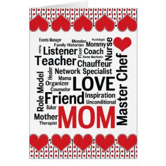Cartão Surpreendendo que mães podem fazer o dia das mães