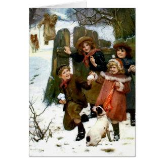 Cartão Surpresa da bola da neve,