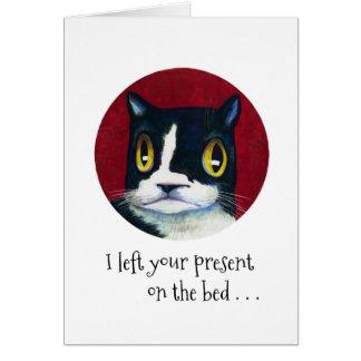 Cartão SURPRESA do aniversário do gato!