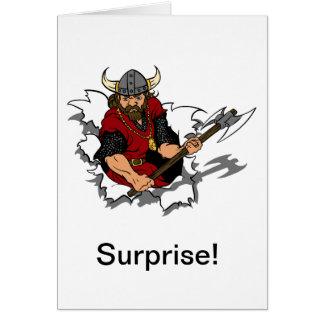 Cartão Surpresa do guerreiro de Viking