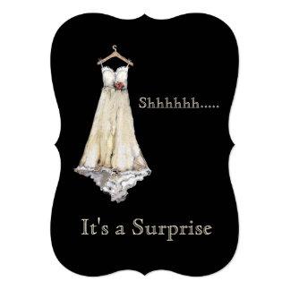 Cartão Surpresa Pastel do chá de panela do vestido de