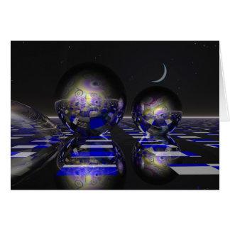 Cartão surrealista da ficção científica