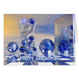 Cartão surrealista do Feliz Natal