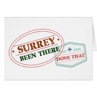 Cartão Surrey feito lá isso