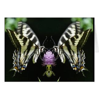 Cartão Swallowtail pálido dobrado