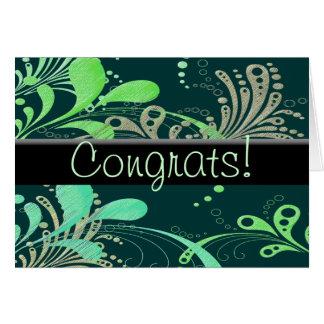 Cartão Swirly Congrats!