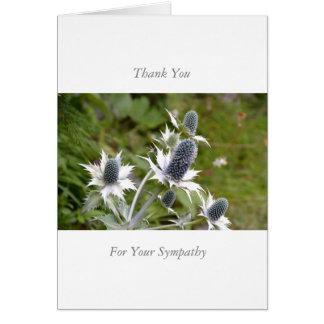 Cartão Sympathy/Memorial Thank You Note Card Blue Thistle