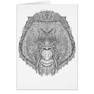 Cartão T do macaco do orangotango - coloração do estilo