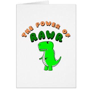 Cartão T-Rex o poder de RAWR