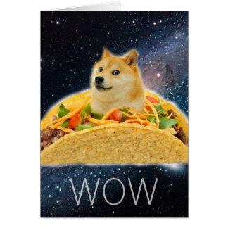 Cartão Taco do Doge - doge cão-bonito do doge-shibe-doge