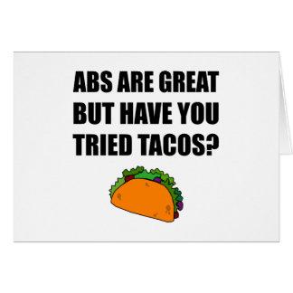 Cartão Tacos experimentado do excelente do ABS