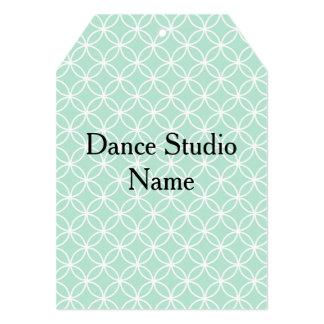 Cartão Tag do cair do traje da dança na hortelã