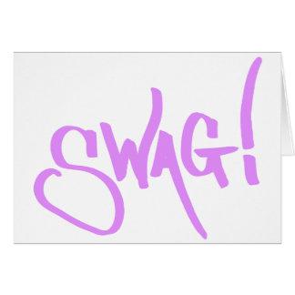Cartão Tag dos ganhos - rosa