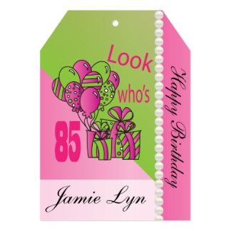 Cartão Tag enorme do presente - olhar que é aniversário