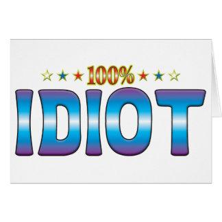 Cartão Tag v2 da estrela do idiota