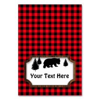 Cartão Tag Woodsy do partido da mesa da comida do urso ou