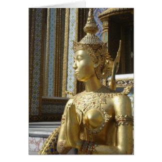 Cartão tailandês de Buddha