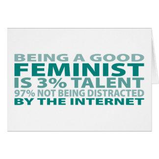 Cartão Talento da feminista 3%