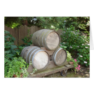 Cartão Tambores da hera e de vinho