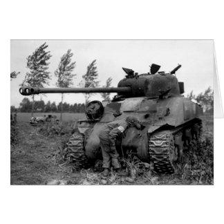 Cartão Tanque britânico do vaga-lume de WWII KIA, Holland