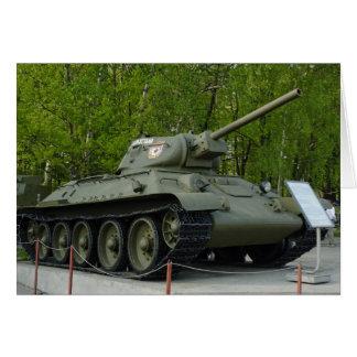Cartão Tanque T-34