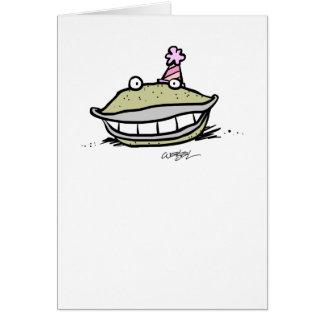 Cartão Tão feliz quanto uns moluscos