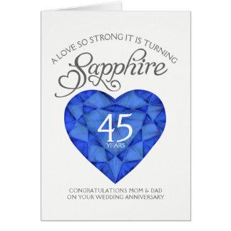 Cartão tão forte do aniversário da safira 45th do