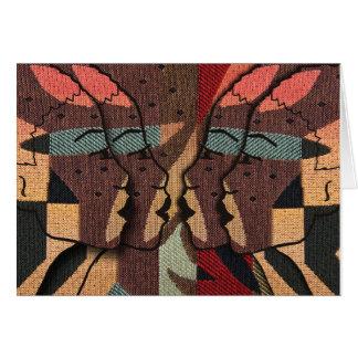 Cartão Tapeçaria africana