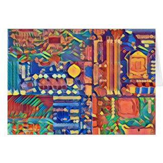 Cartão Tapeçaria dos circuitos - apenas uma nota pequena