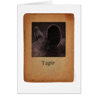 Cartão Tapir