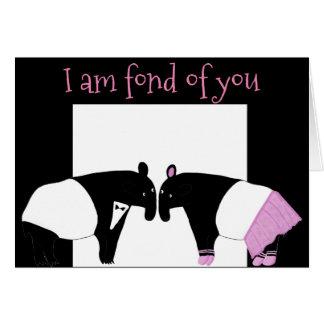 Cartão Tapirs -- Eu sou afeiçoado de você