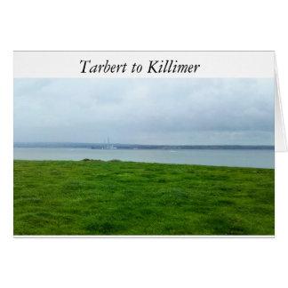 Cartão Tarbert a Killimer sobre o rio Shannon, Ireland