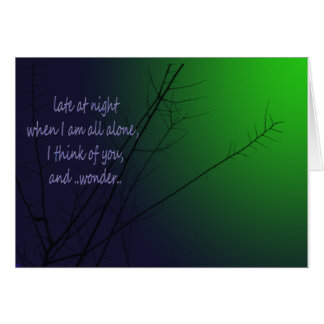 Cartão Tarde na noite