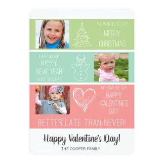 Cartão tardivo dos namorados do Natal/foto